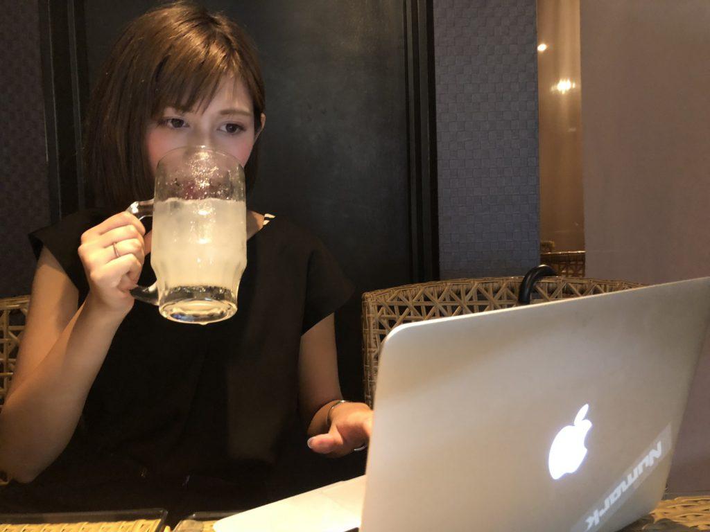 PCと一人飲み