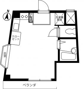 K's201号室間取り図